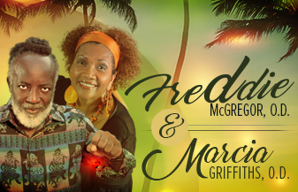 Freddie McGregor, O.D and Marcia Griffiths, O.D.